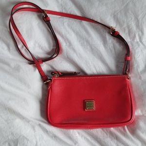 Dooney & Bourke red cross body purse